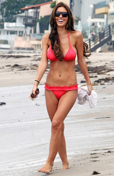 Audrina Patridge on the beach